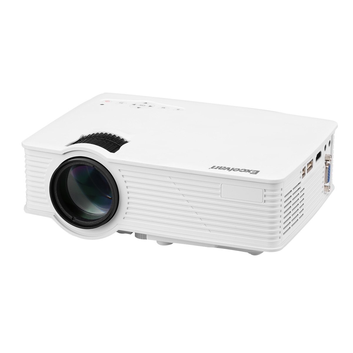 Excelvan EHD09 Mini LED Multimedia Home Theater Projector 1200 Lumens 1080P HDMI/USB/SD/AV/VGA Interface Ideal for Video Games,Movie Night,Family ...