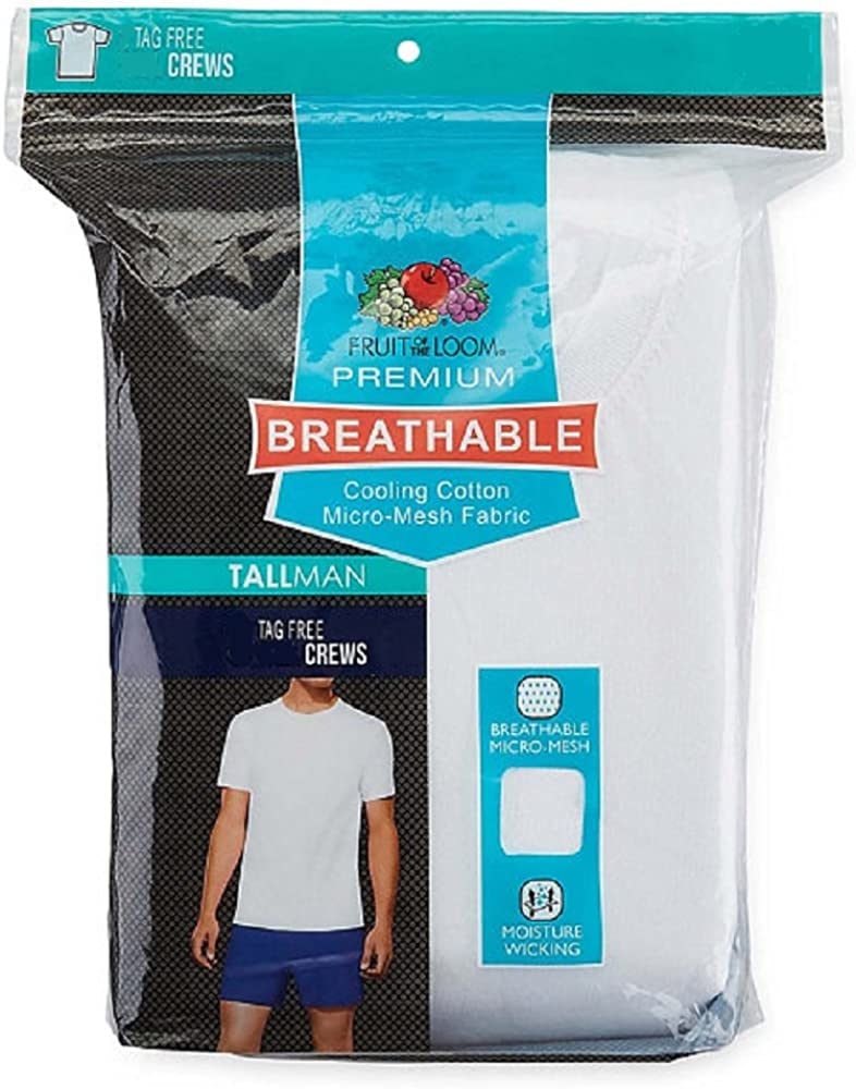 Fruit of the Loom Men's 3-Pack Breathable Crew T-Shirt at  Men's Clothing store