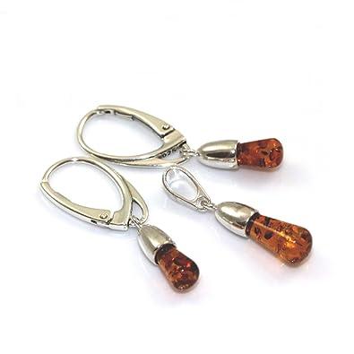 22bdce69b14fa9 Balais Women's 925 Sterling Silver Baltic Amber Jewellery Set:  Amazon.co.uk: Jewellery