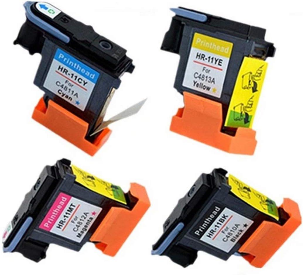 Cabezal de impresión sin Nombre remanufacturado C4810A C4811A C4812A C4813A Compatible con HP 11 HP11 DesignJet 500 510 70 10ps 20ps 50ps 500 800 Business Inkjet 1000 1100d 1200 2200: Amazon.es: Electrónica