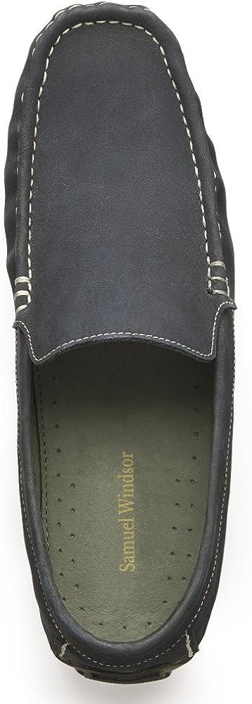 Samuel Windsor Mens Leather Soft Classic Moccasin