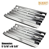 Bar.b.q.s 91931 (2-pack) Stainless Steel Heat Plates Heat Shield, Heat Tent, Burner Cover Replacement for Gas Grill Models Kirkland 720-0432, 720-0193, Costco 720-0193, 720-0432 (17 5/16