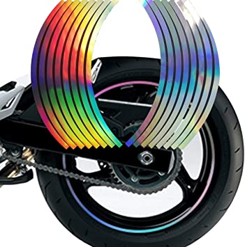Strips Wheel Stickers Decals For Reflective Rim Tape Bike Motorcycle Car NS