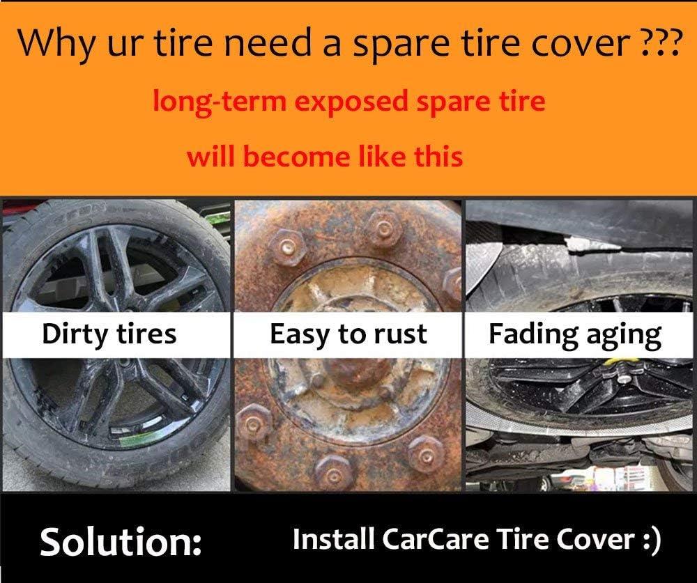 Truck Wheel fit Entire Wheel 26.75-29.75 Trailer RV CAREMO Universal Spare Tire Cover for Jeep Black SUV