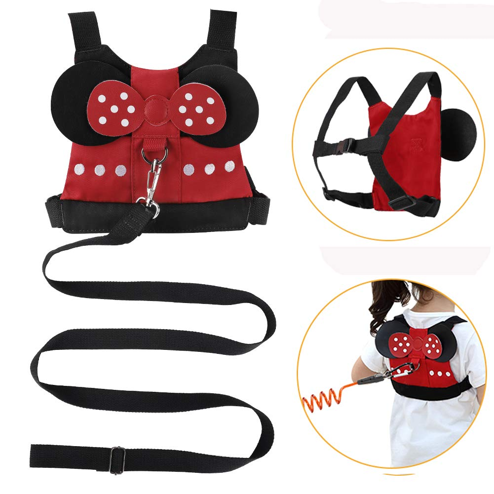 Accmor Baby Anti Lost Safety Harness + Anti Lost Wrist Link, Cute Kid Safety Harness Leash Child Kid Assistant Strap for 1-5 Years Boys and Girls to Zoo or Mall