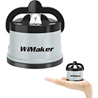 WiMaker Mini Knife Sharpener, Home Essential Sharpener with Suction Cup Professional Kitchen Knife Sharpening Stone for Knife Sharpening