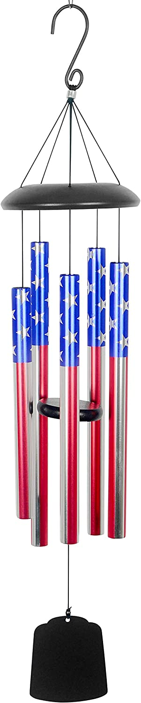 Red Carpet Studios 10302 Aluminum Patriotic Wind Chime, USA Flag