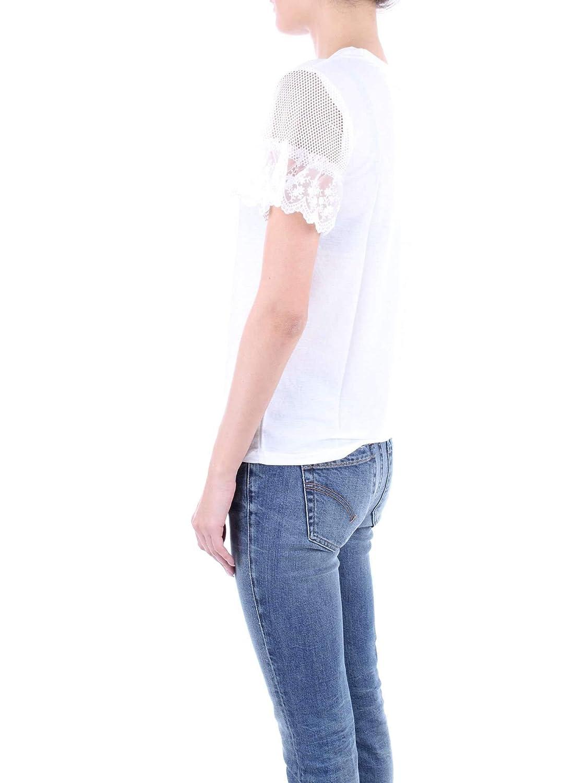 Molly Bracken Womens M2635P19WHITE White Cotton T-Shirt
