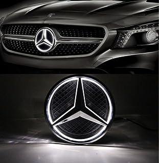 Cszlove Car Front Grilled Star Emblem LED Illuminated Logo Center Front Badge L& Light for Mercedes & Amazon.com: 2X LED Door Courtesy Light Laser Shadow Logo Projector ...