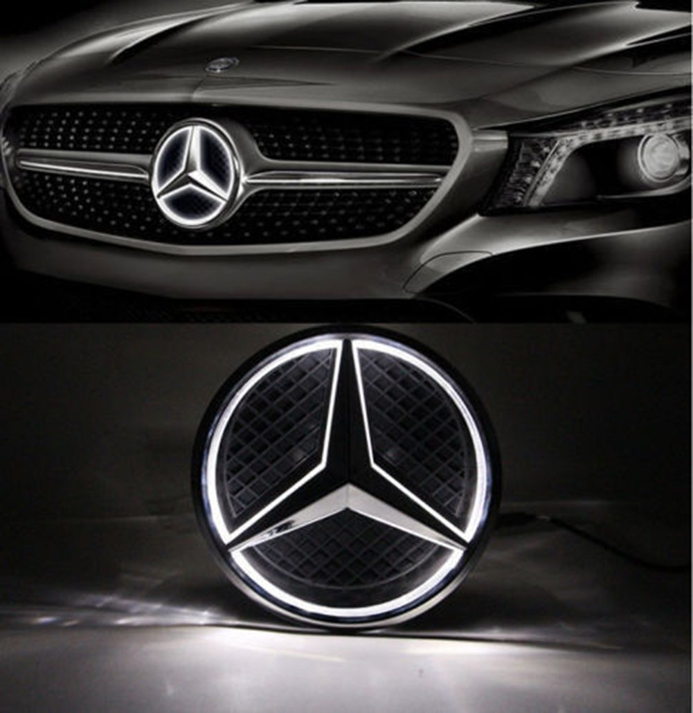 Cszlove Car Front Grilled Star Emblem Led Illuminated Mercedesbenz Genuine Mercedes Engine Wiring Harness 2711502933 Logo Center Badge Lamp Light For Benz 2013 2015 A B C E R Glk Ml Gl Cla Cls