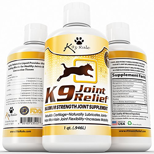 K9 Joint Relief: Glucosamine for Dogs, Liquid Joint Suppleme