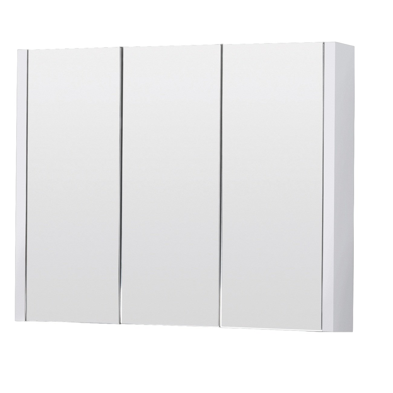 Premium 900mm Stylish 3 Door Bathroom Mirror Cabinet With Gloss ...