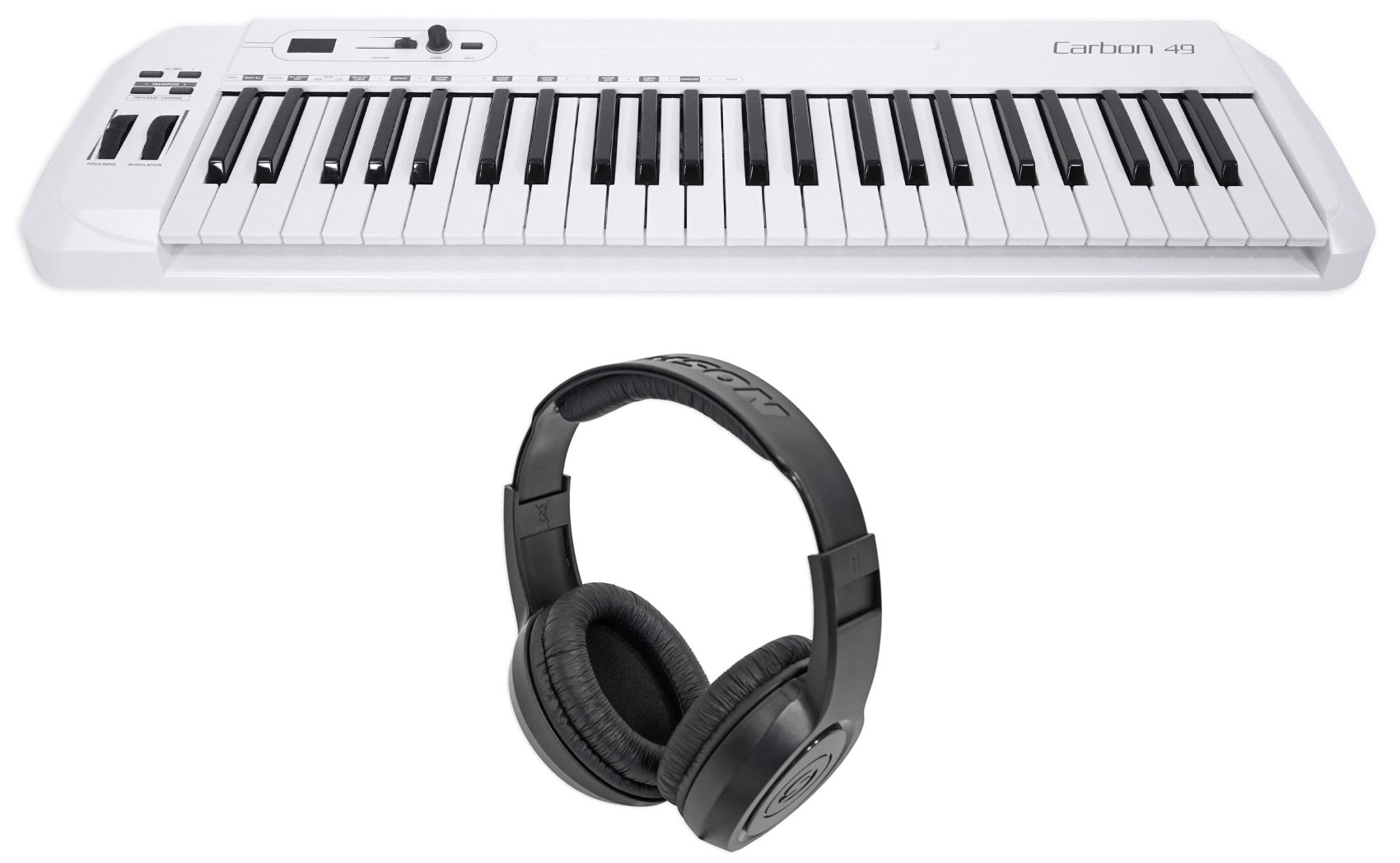 Samson Carbon 49 Key USB MIDI DJ Keyboard Controller+Software+Headphones by Samson Technologies