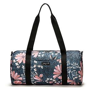 "Jadyn B 19"" Barrel Women's Duffel Bag, Navy Floral"