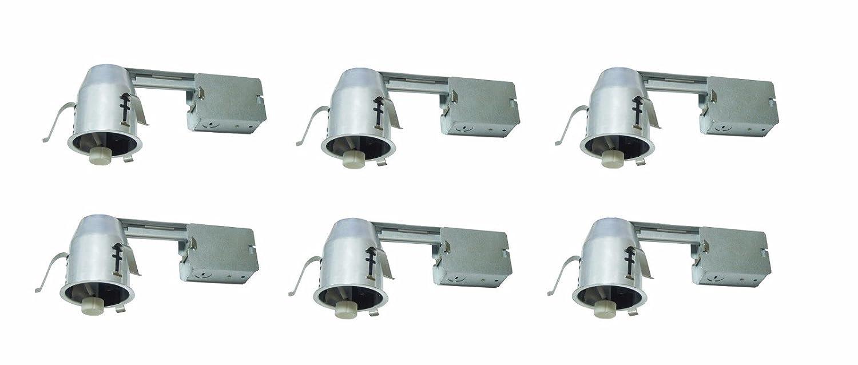 Socket LED GU10 Bulb 15W MAX 6 Pack 120V Elitco Lighting ICAT3R-GU10LED-6PK recessed-Light-Fixture 3 ICAT REMODEL HOUSING