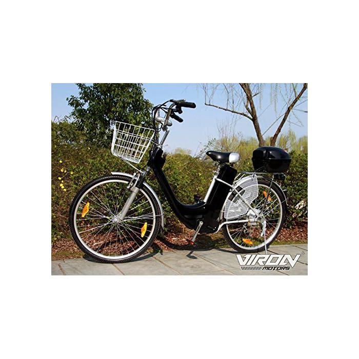 Pedelec – Bicicleta ElÉCtrica, 250&Nbsp;Vatios / 36&Nbsp;Voltios – Bicileta con Motor De&Nbsp;26&Nbsp;Pulgadas, Color Negro, Tamaño 26 Pulgadas, Tamaño de Rueda 26.00