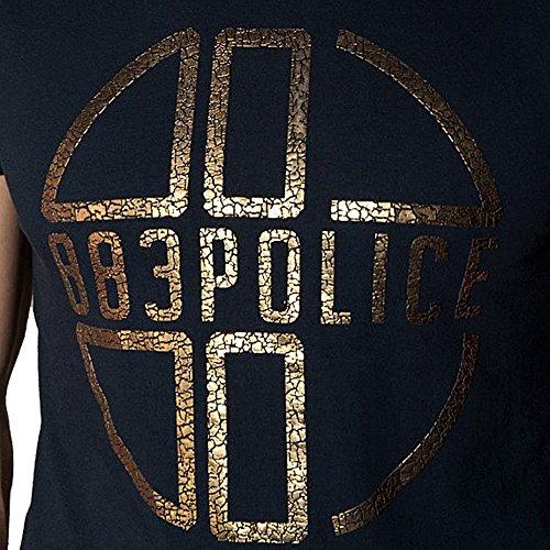 in uomo Shirt Police da Medal blu T navy 883 O1xqvxY
