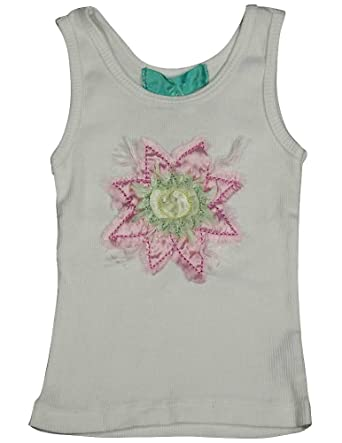 c2dd159a16cb Amazon.com: Maura Daniel - Baby Girls Ribbed Tank, White 12307 ...