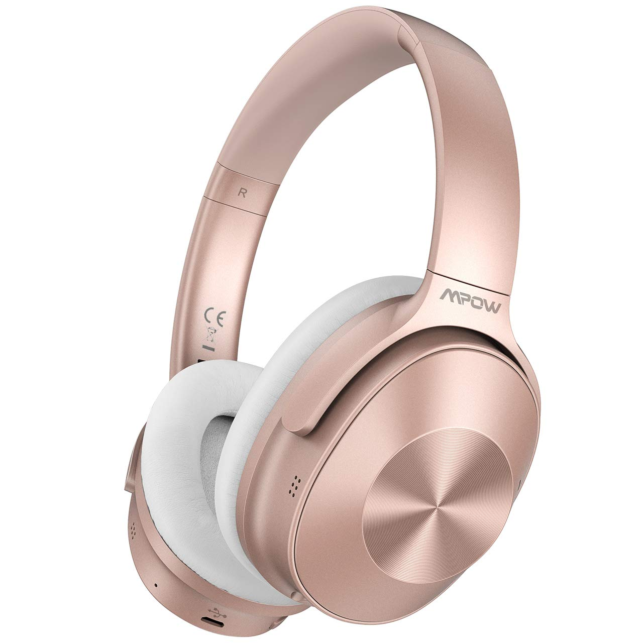 Mpow Hybrid Noise Cancelling Headphones [Upgraded] Bluetooth Headphones, Over-Ear Wireless Headphones with Stereo Sound, 30H Playtime for Travel Work Cellphone
