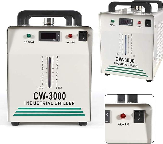 HaroldDol CW-3000 Chiller - Enfriador de Agua Industrial (9 L, 50 ...