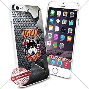 New iPhone 6 Case Loyola Ramblers Logo NCAA #1260 White Smartphone Case Cover Collector TPU Rubber [Iron]