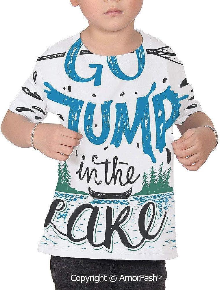 Cabin Decor Distinctive Childrens Premium Polyester T-Shirt,XS-2XL,Vintage Typo