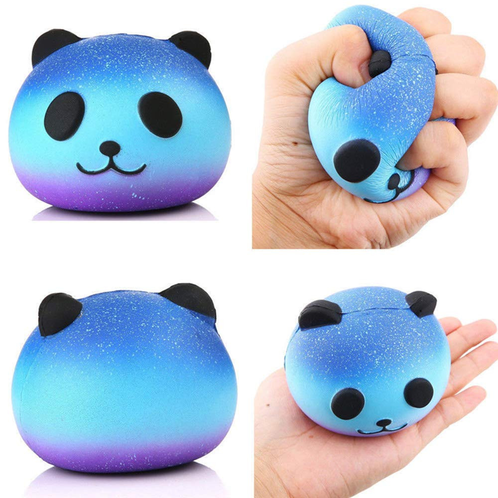 BIMOUR 3 Pieces Decompression Rebound Toy Animal Panda Fox Bread Soft Slow Rise Fun Childrens Toys