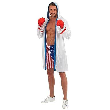 Fun Shack Blanco Boxeador Disfraz para Hombres: Amazon.es: Ropa y ...