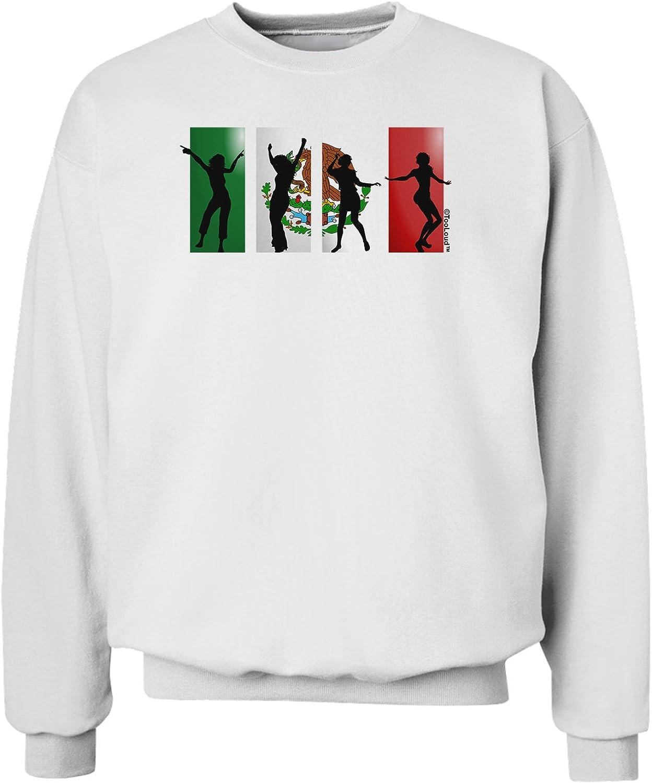 Dancing Silhouettes Sweatshirt TooLoud Mexican Flag