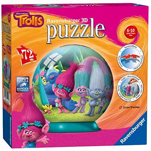 Ravensburger 12197 Trolls 3D Jigsaw Puzzle - 72 ()