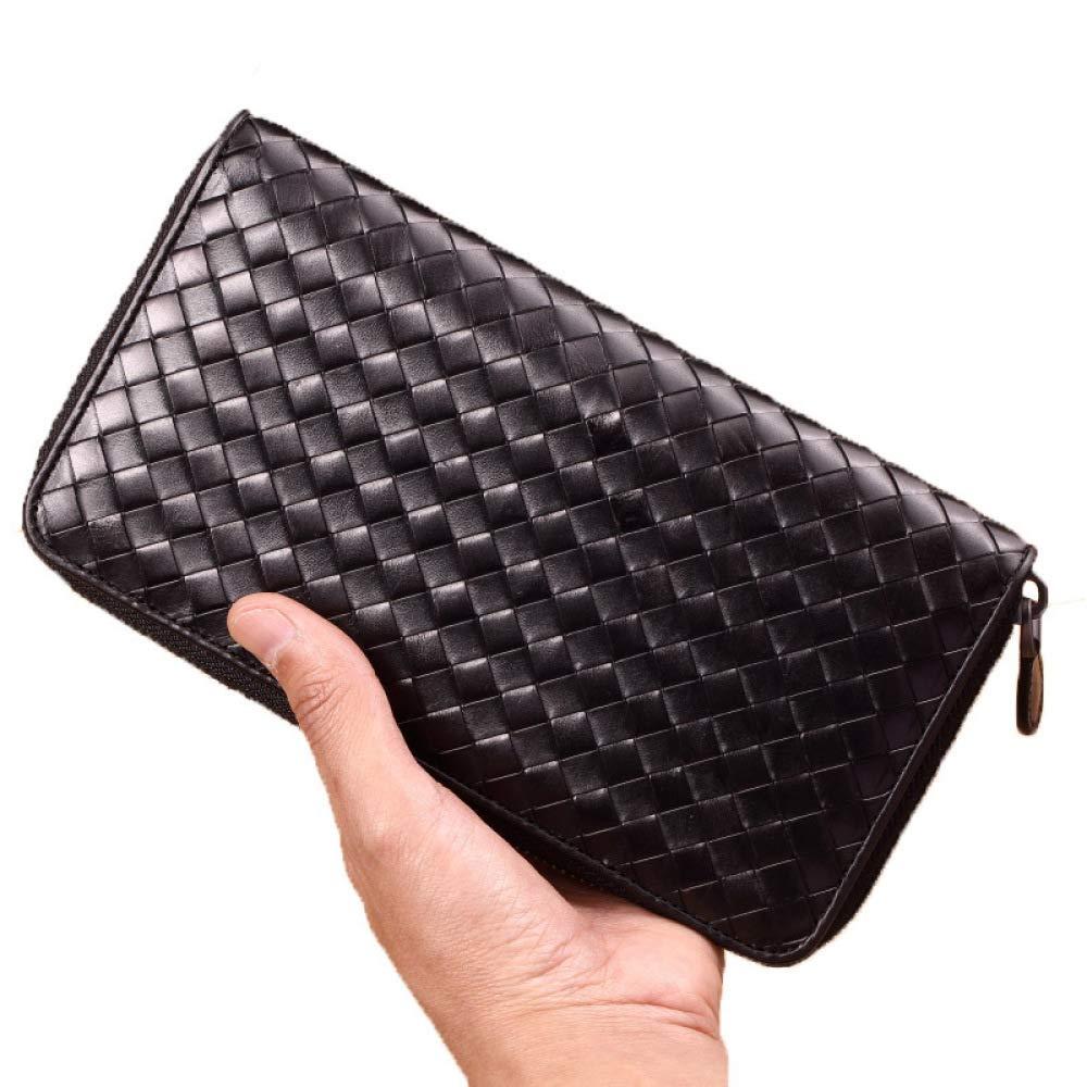TRN Wallet Mens Long Zipper Wallet Leather Bv Handbag Men