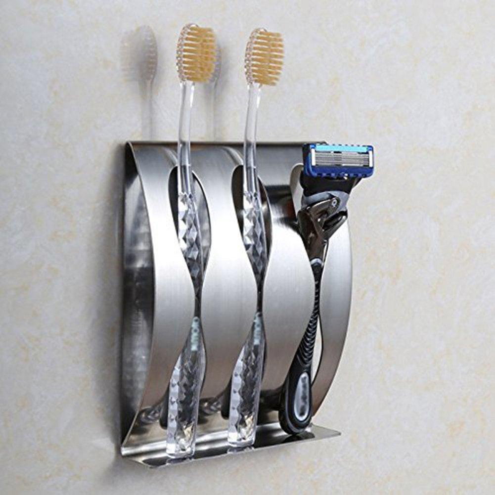 Porta cepillo de dientes Goannra de acero inoxidable (3 Hole): Amazon.es: Hogar