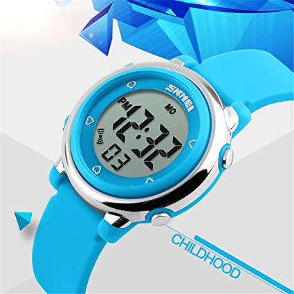Amazon.com: FEIWEN Multicolor LED Backlight Waterproof Watch for Boy Girl and Children Outdoor Digital Multifunction Stopwatch Alarm Date Plastic Case with ...