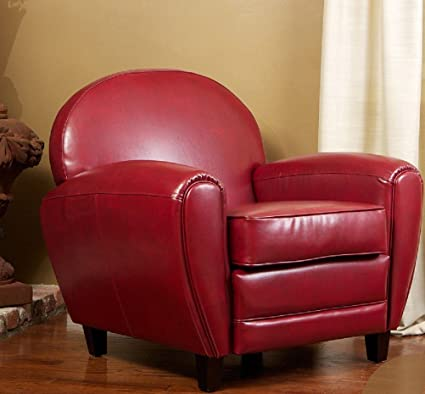 Ordinaire BEST Leather Cigar Chair, Red