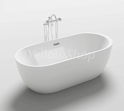Modelli Vasca Da Bagno.Yellowshop Vasca Vasche Da Bagno Freestanding Modello One Free Standing Design Moderno Centro Stanza Cm 170x80 Altezza 58