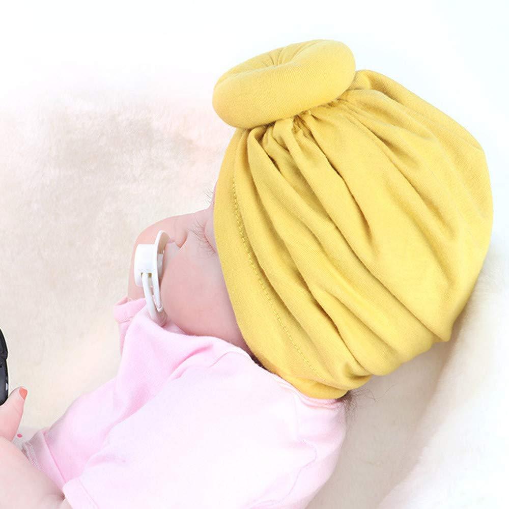 ce61ce1b862fa Mamum Bonnet Noeud Turban en Coton Bandeau Naissance Mignon pour Bébé Fille  Nouveau-né Noir Bonnet Turban Bébé