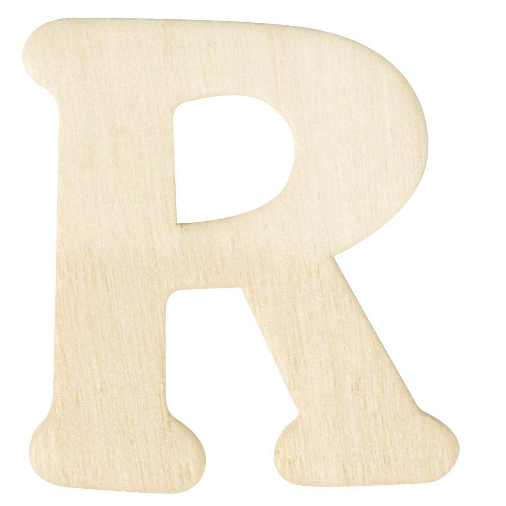 4 cm Rayher Hobby 6161700 Holz-Buchstaben R
