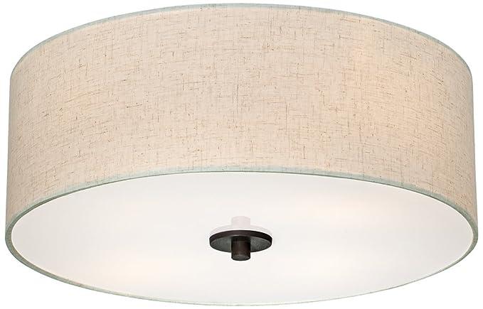 Sylvan 18 wide oatmeal drum ceiling light close to ceiling light sylvan 18quot wide oatmeal drum ceiling light aloadofball Choice Image