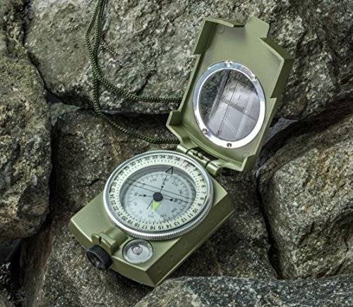 SE CC4580 Military Lensatic and Prismatic Sighting Survival Emergency Compass with Pouch by SE (Image #2)
