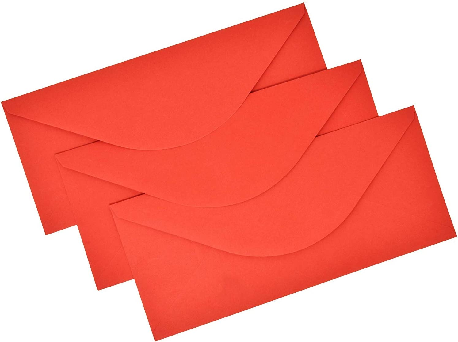 100 Red Envelopes #10 Holiday Christmas Envelope Invitations Standard Flap Glue Seal Closure for Wedding Birthday Card Stationary Office Business Letter Notes Mailing Supplies by Gift Boutique