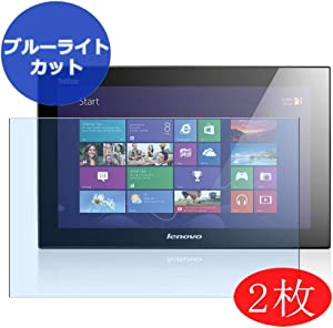 """【2 Pack】 Synvy Anti Blue Light Screen Protector for Lenovo thinkvision LT1423P 13.3"""" Display Monitor Screen Film Protective Protectors [Not Tempered Glass]"""