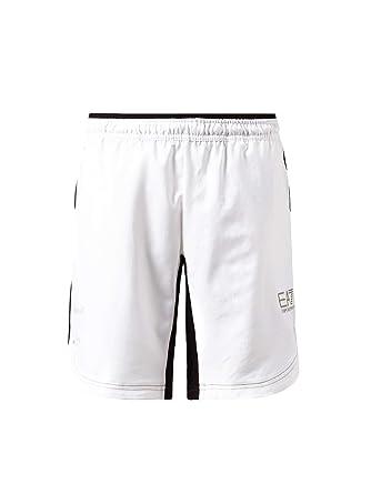 good texture clearance sale incredible prices Emporio Armani EA7 Short Pantacourt Bermuda Homme Blanc ...