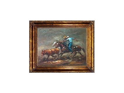 Amazon Com Impactint Original Oil Painting Of Western