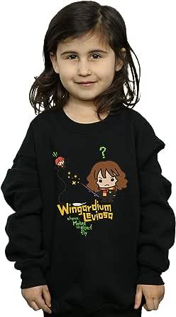 HARRY POTTER niñas Hermione Granger Wingardium Leviosa Junior Camisa De Entrenamiento 9-11 Years Negro