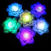 Mobestech 2 piezas de lámpara de loto flotante