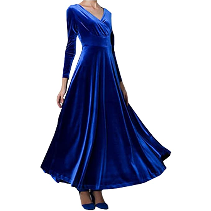 Partiss Mujeres Slim Fit Embarazo de novia Vestidos Para Fiestas Azul azul Chino L