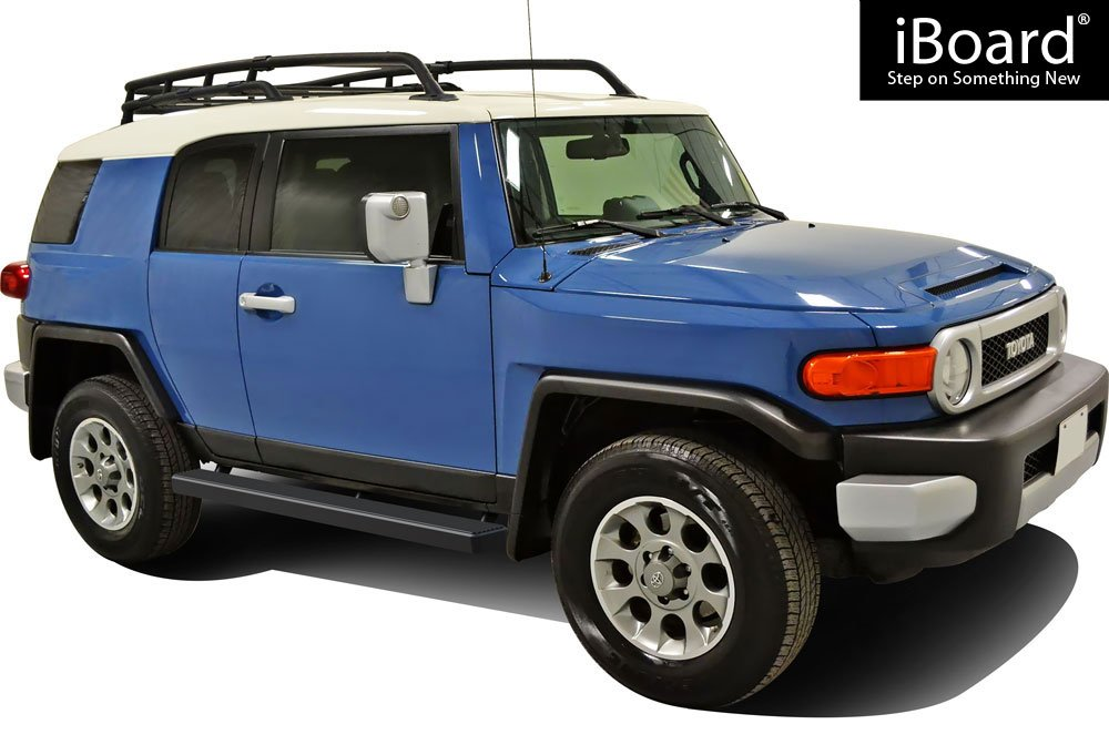 Compatible with 2007-2014 Toyota FJ Cruiser Sport Utility 4-Door Black Powder Coated 5 inches APS iBoard Running Boards Nerf Bars Side Steps Step Bars