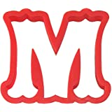 Curly Letter M Cookie Cutter 4 in
