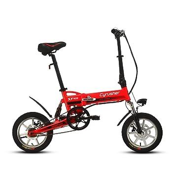 Extrbici XF600 14 pulgadas Marco de aleación de aluminio Mini bicicleta plegable (Suspensión completa 300
