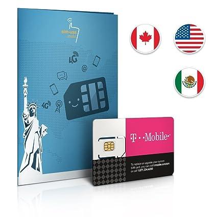 Carte Sim Canada.Carte Sim Prepayee 30 Go De Donnees Aux Etats Unis Free Roaming 5 Go Au Canada Et Au Mexique Appels Illimites Et Sms